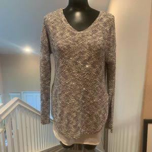 APT 9. long sleeve top with attached Blouse